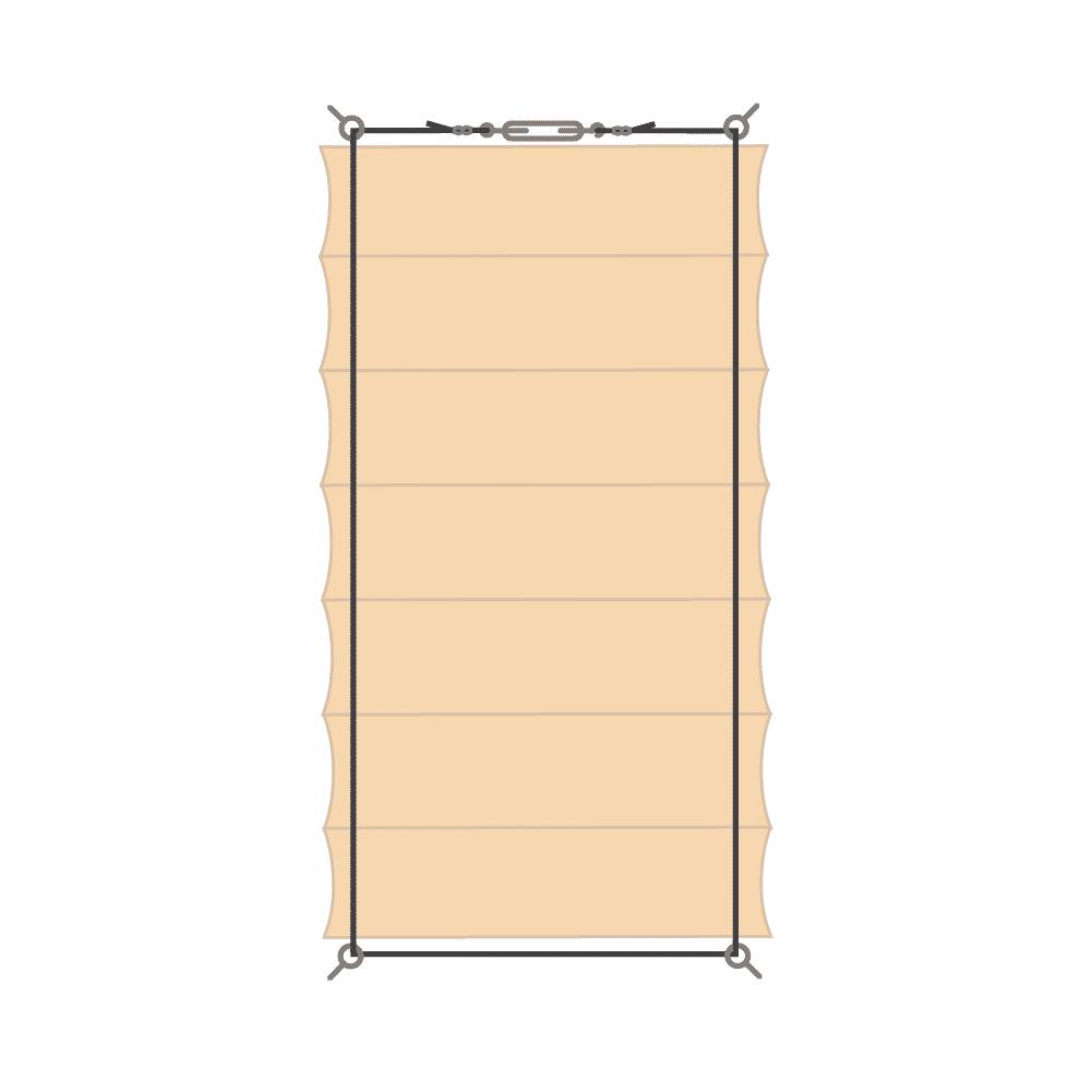 Schéma zavěšení baldachýnu - varianta A