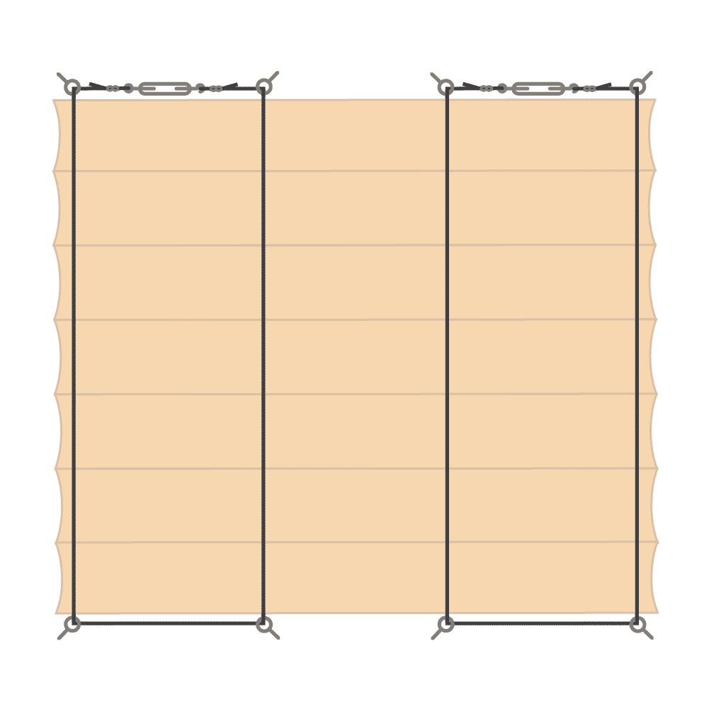 Schéma zavěšení baldachýnu - varianta C